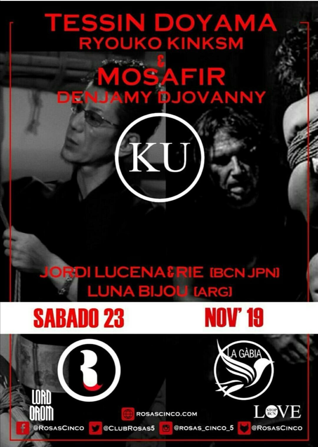 Выступление в Барселоне шибари Mosafir