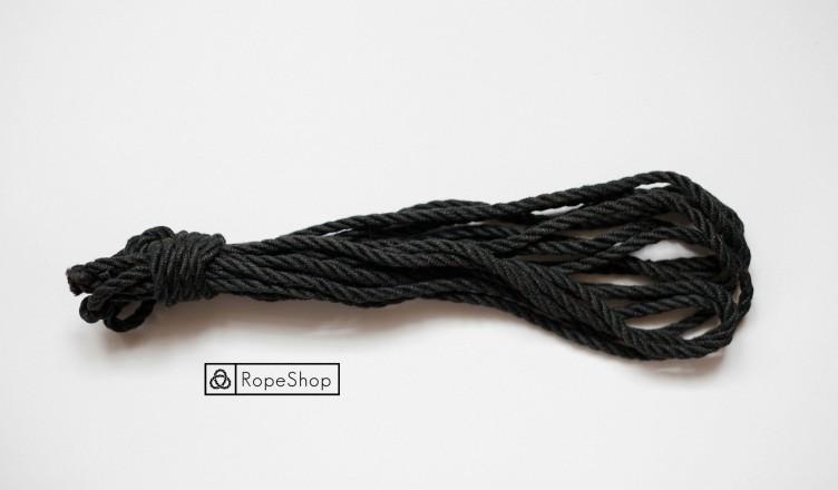 Jute shibari rope Korde black