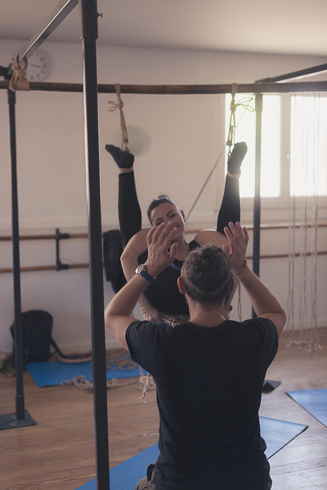 Workshop at Ecole des Cordes. Montpellier, France. Model: Denjamy Djovanny. Shibari by Mosafir. Photo: Alex DirtyVonP