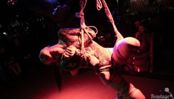 Shibari perfomance at Bondage Cafe SPb. Model: Denjamy Djovanny. Bondage: Mosafir. Photo by Gestoor