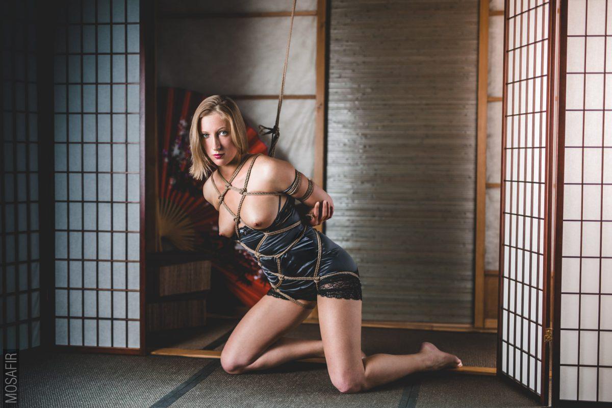 Model: Ksenia. Bondage and photo: Mosafir.