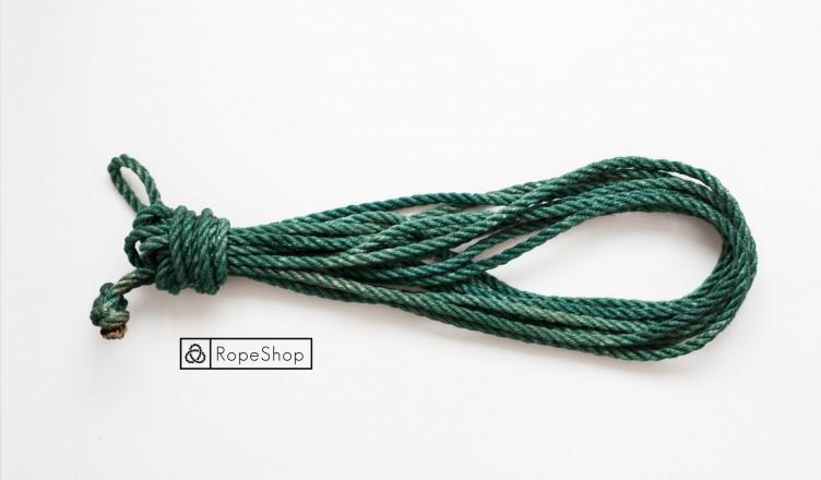 зеленая джутовая веревка для шибари